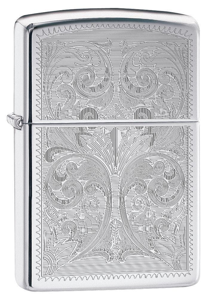 Zippo Lighter: Ornate Design Engraved - High Polish Chrome 78498