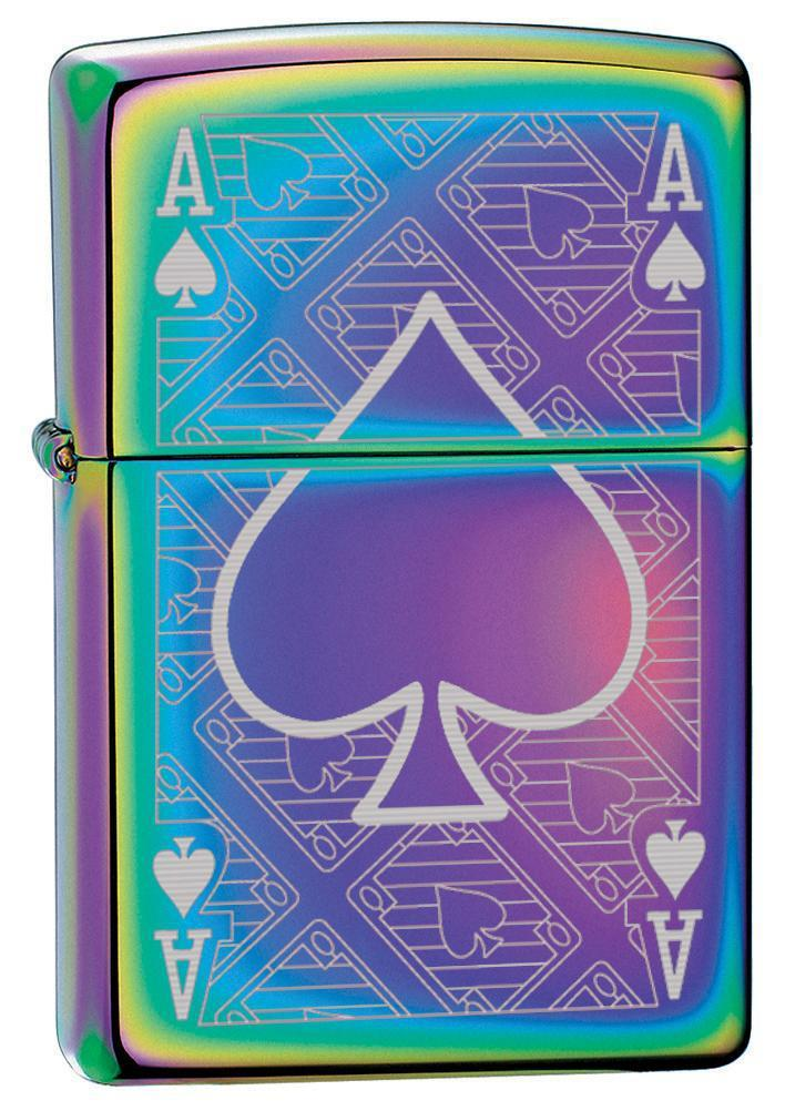 Zippo Lighter: Ace of Spades Engraved - Spectrum 78747 - Gear Exec