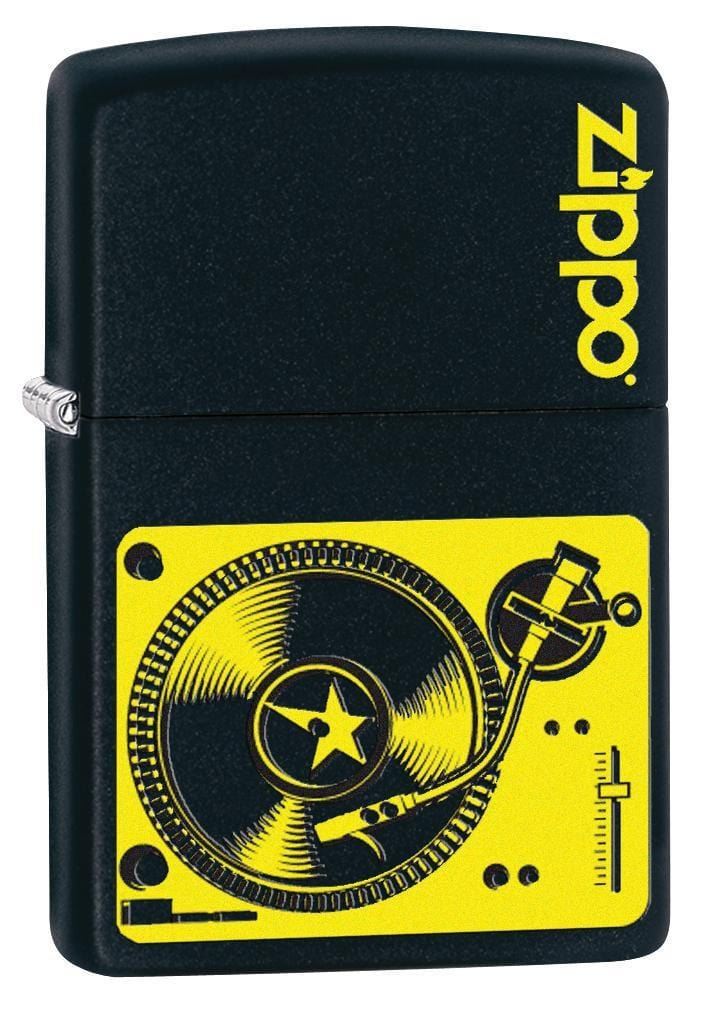 Zippo Lighter: Music Turntable - Black Matte 78753