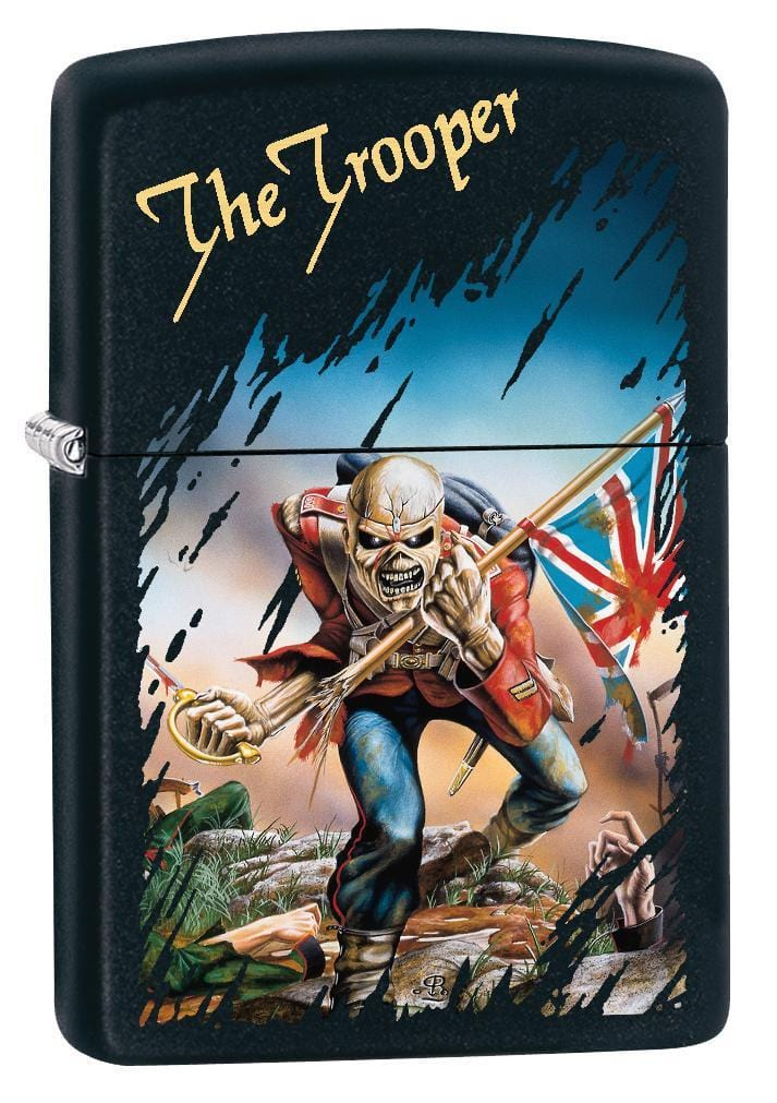 Zippo Lighter: Iron Maiden, The Trooper - Black Matte 78864 - Gear Exec