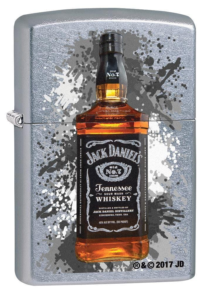Zippo Lighter: Jack Daniel's Whiskey Bottle - Street Chrome 78870 (1975615324275)