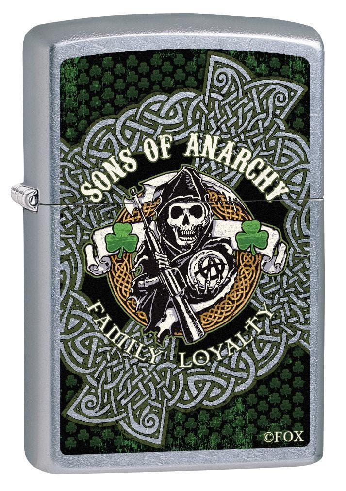Zippo Lighter: Sons of Anarchy Ireland Shamrocks - Street Chrome 78930