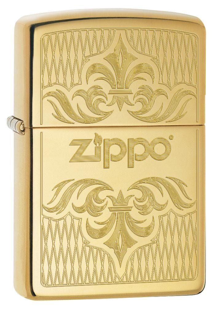 Zippo Lighter: Regal Zippo Design, Engraved - High Polish Brass 79098