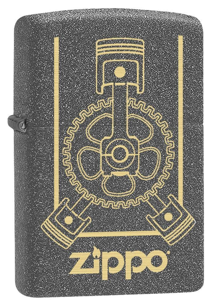 Zippo Lighter: Engraved Engine - Iron Stone 79149 - Gear Exec