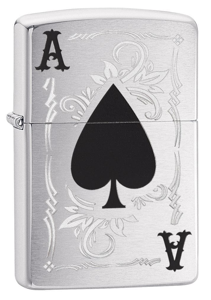Zippo Lighter: Ace of Spades - Brushed Chrome 79191 - Gear Exec (1975619944563)