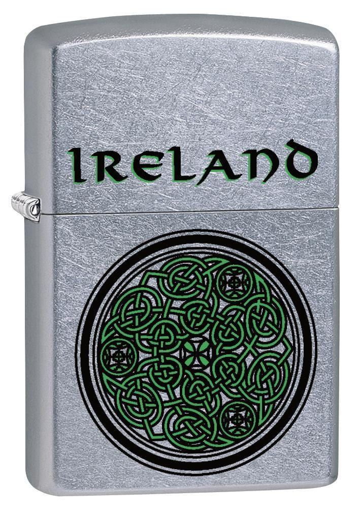 Zippo Lighter: Ireland Celtic Knot - Street Chrome 79254 - Gear Exec (1975621189747)