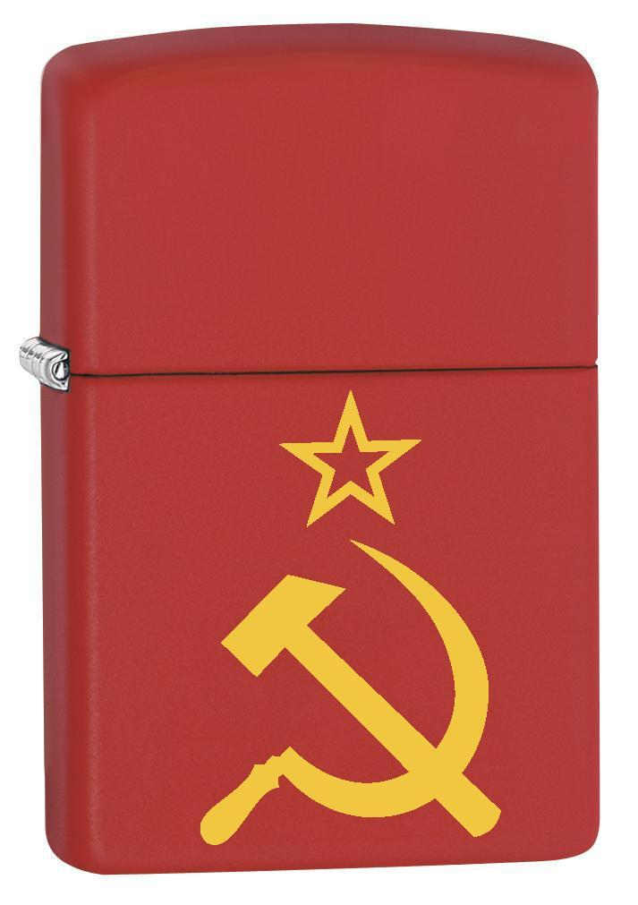 Zippo Lighter: Hammer, Sickle and Star - Red Matte 79257 - Gear Exec
