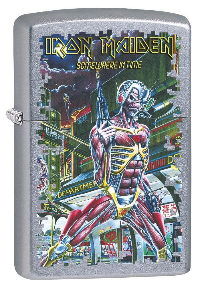 Zippo Lighter: Iron Maiden, Somewhere in Time - Street Chrome 79332 - Gear Exec (1975623024755)