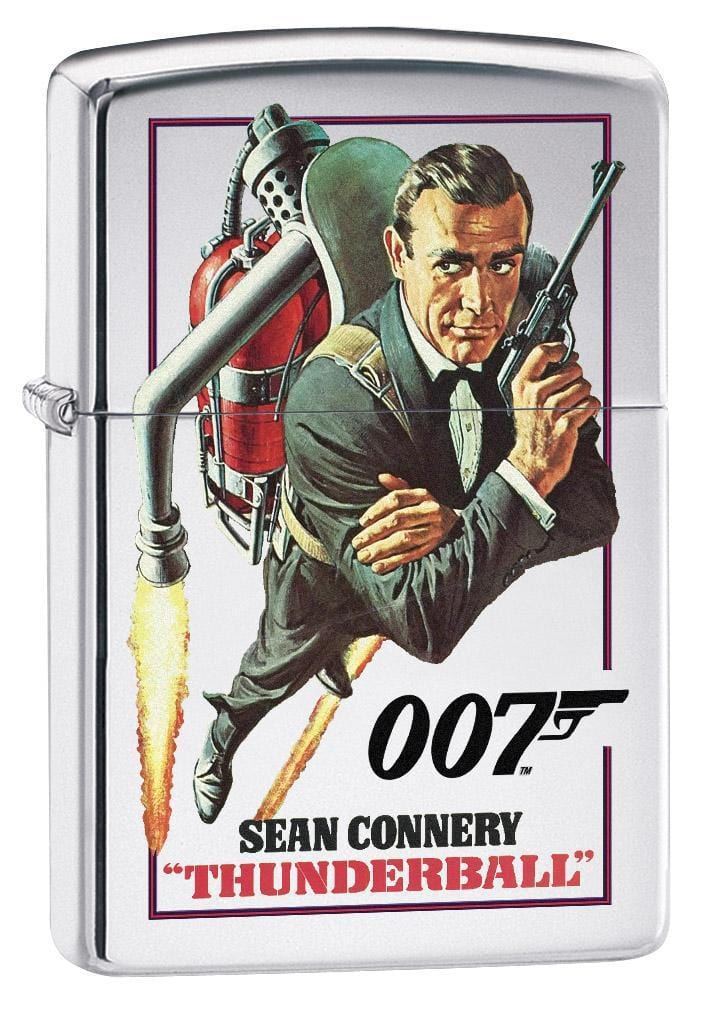 Zippo Lighter: James Bond 007 Thunderball - High Polish Chrome 79341 (1975623254131)