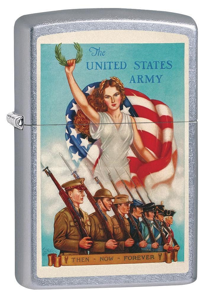 Zippo Lighter: Military Poster, Unites States Army - Street Chrome 79359