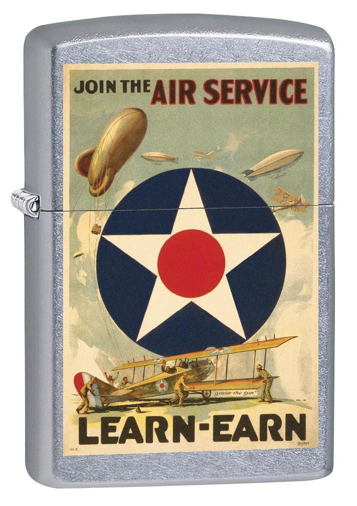 Zippo Lighter: Military Poster, Join the Air Service - Street Chrome 79371