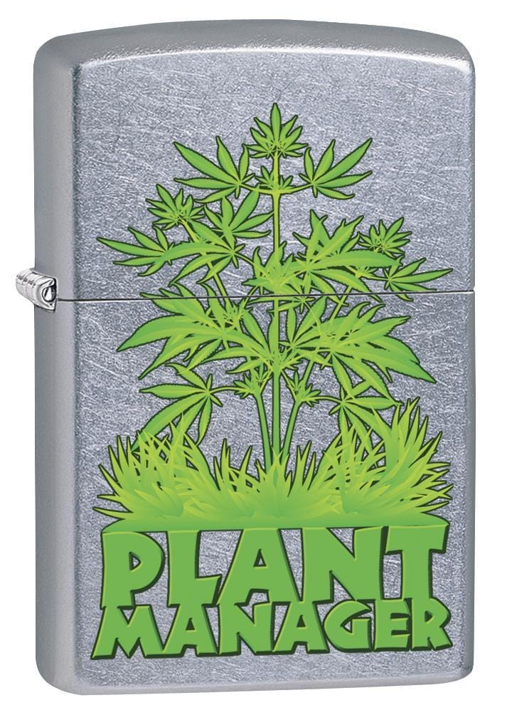Zippo Lighter: Plant Manager, Marijuana - Street Chrome 79440