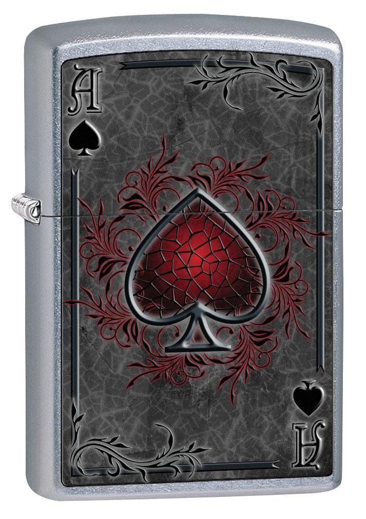 Zippo Lighter: Ace of Spades - Street Chrome 79476 - Gear Exec (1975625613427)