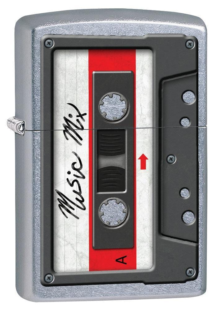 Zippo Lighter: Cassette Tape - Street Chrome 79479 - Gear Exec