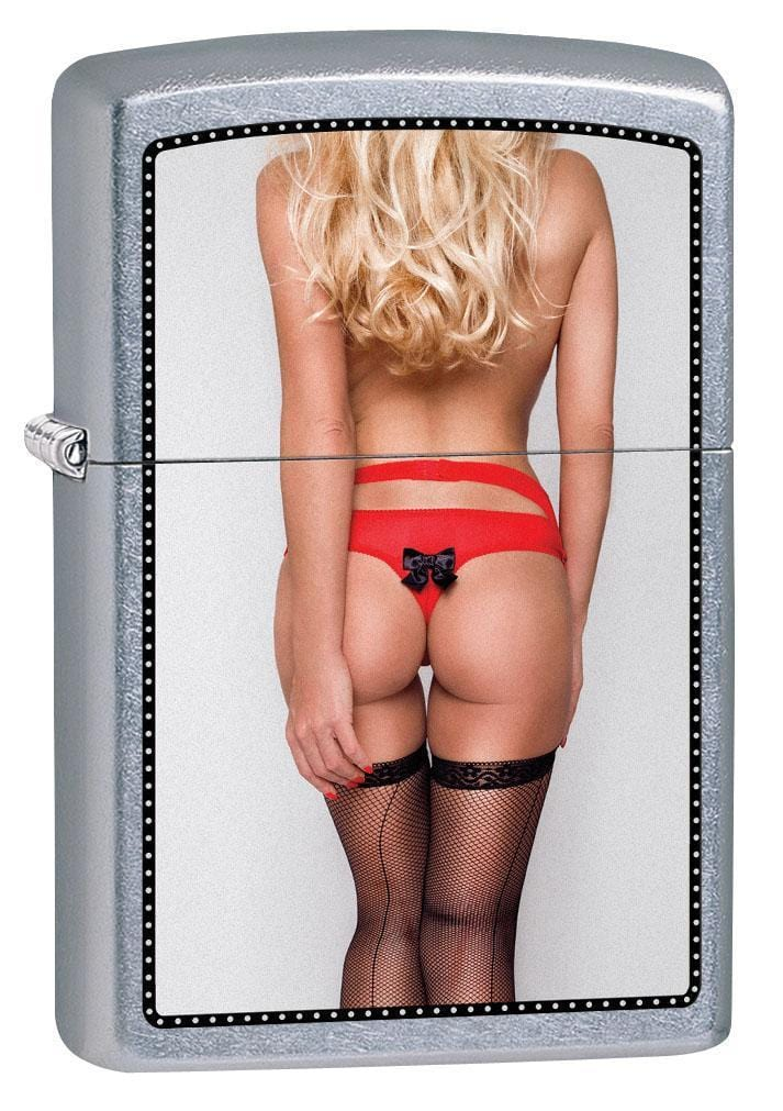 Zippo Lighter: Sexy Pin-Up Girl in Red Thong - Street Chrome 79560