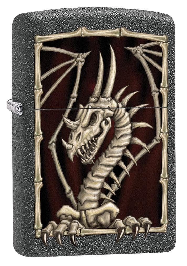 Zippo Lighter: Dragon Skeleton - Iron Stone 79581 - Gear Exec