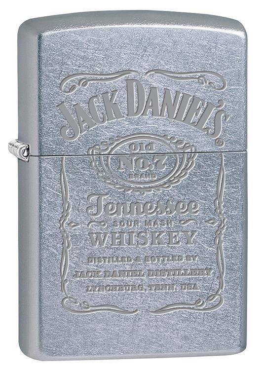 Zippo Lighter: Jack Daniels Engraved Logo - Street Chrome 79632