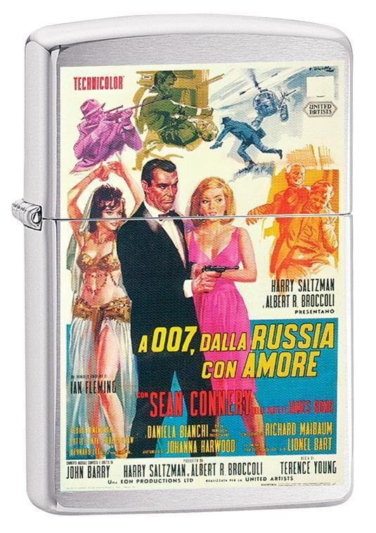 Zippo Lighter: James Bond, From Russia with Love - Brushed Chrome 79635
