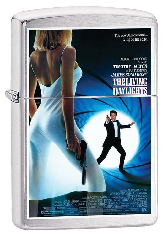 Zippo Lighter: James Bond, The Living Daylights - Brushed Chrome 79647