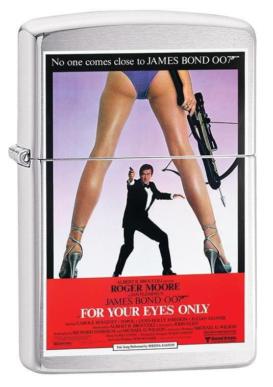 Zippo Lighter: James Bond, For Your Eyes Only - Brushed Chrome 79653