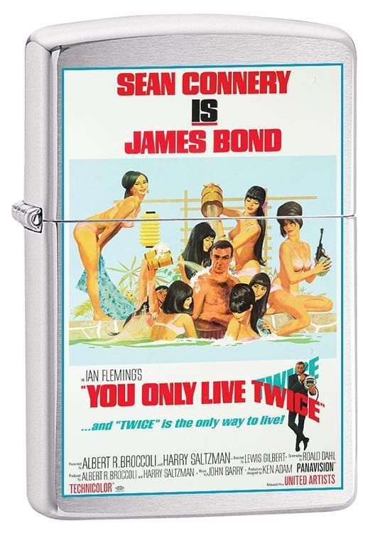 Zippo Lighter: James Bond, You Only Live Twice - Brushed Chrome 79674