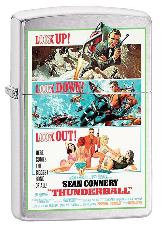 Zippo Lighter: James Bond, Thunderball - Brushed Chrome 79680