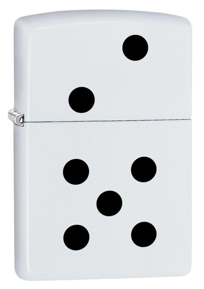 Zippo Lighter: Dominoes Design - White Matte 79812 - Gear Exec