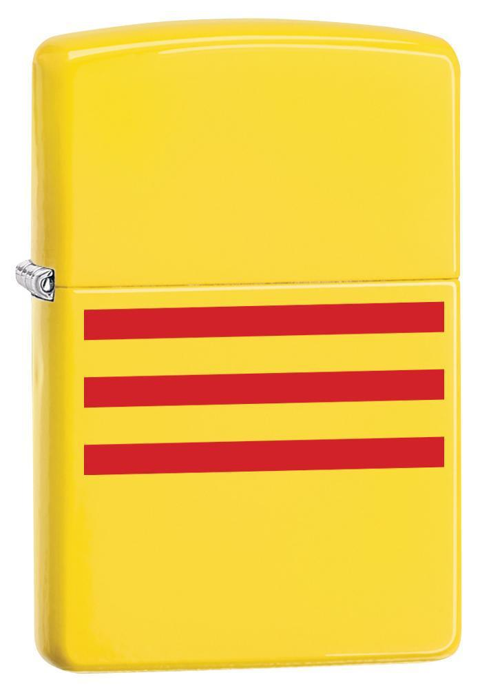 Zippo Lighter: South Vietnam Flag - Lemon Matte 79821