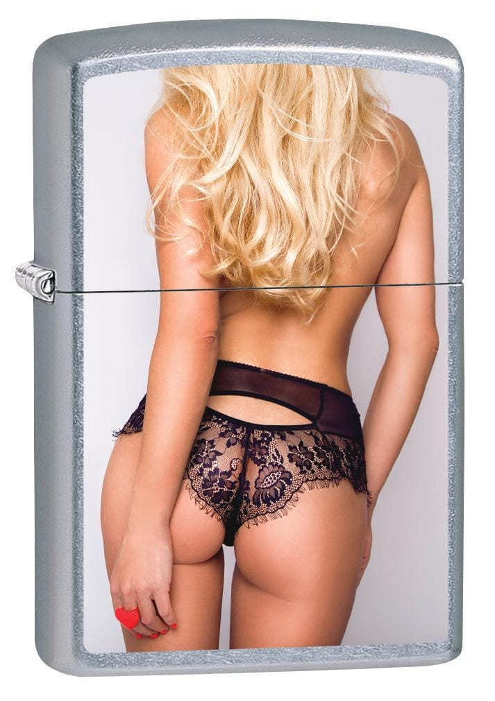 Zippo Lighter: Sexy Blonde Girl in Lingerie - Street Chrome 79875