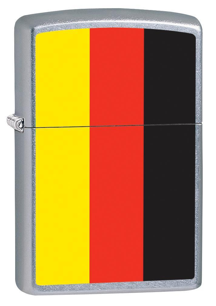 Zippo Lighter: Germany Flag - Street Chrome 79947 - Gear Exec