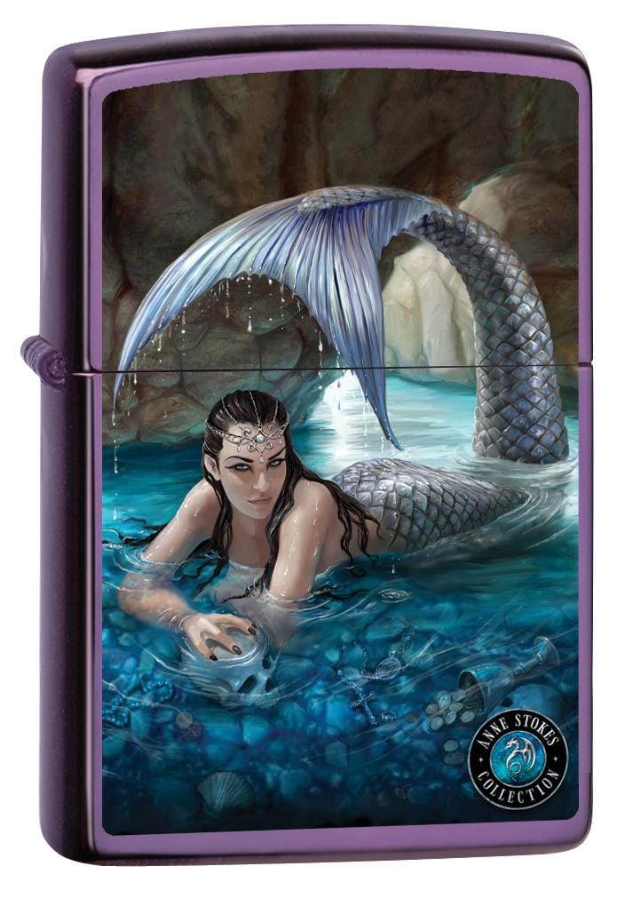 Zippo Lighter: Anne Stokes Mermaid and Water - Sapphire 80007
