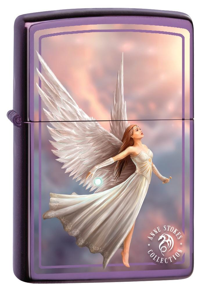 Zippo Lighter: Anne Stokes Angel Flying - Abyss 80013