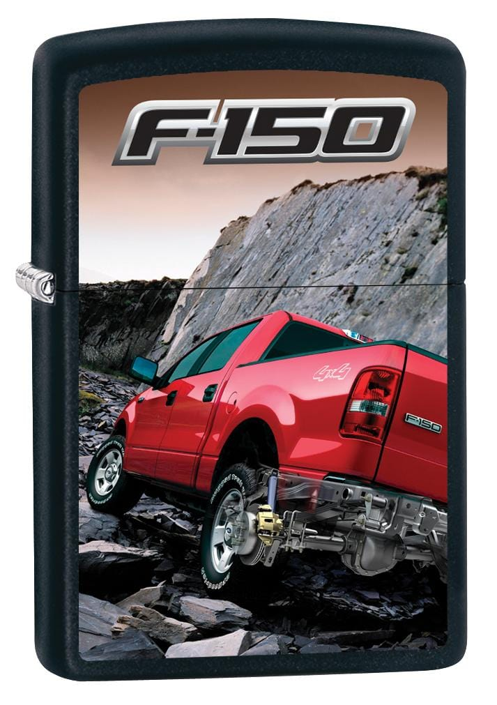 Zippo Lighter: Ford F-150 Pickup Truck - Black Matte 80043