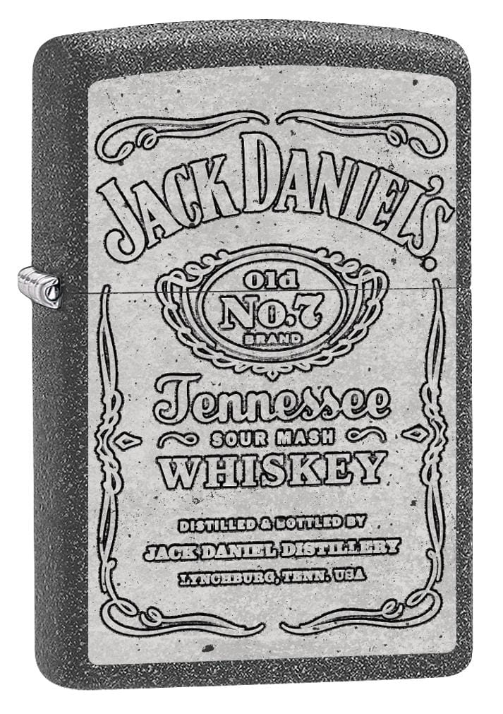 Zippo Lighter: Jack Daniel's Old No.7 Logo - Iron Stone 80067