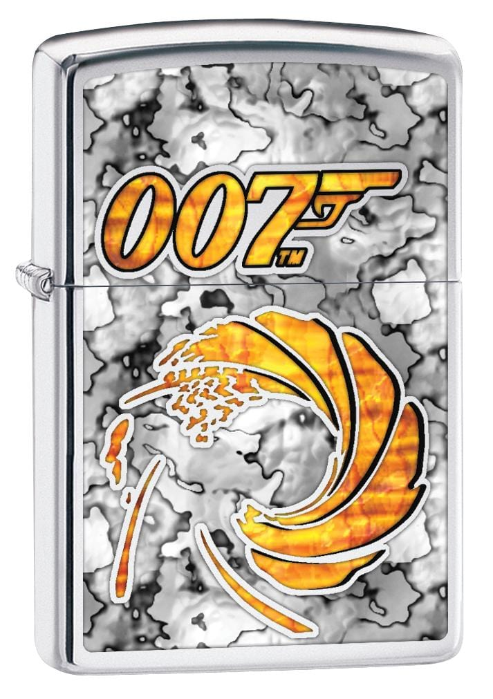 Zippo Lighter: Fusion James Bond 007 Logo - High Polish Chrome 80073