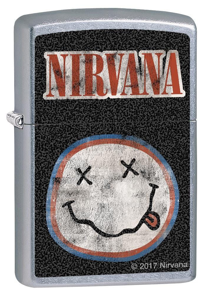 Zippo Lighter: Nirvana Logo - Street Chrome 80097