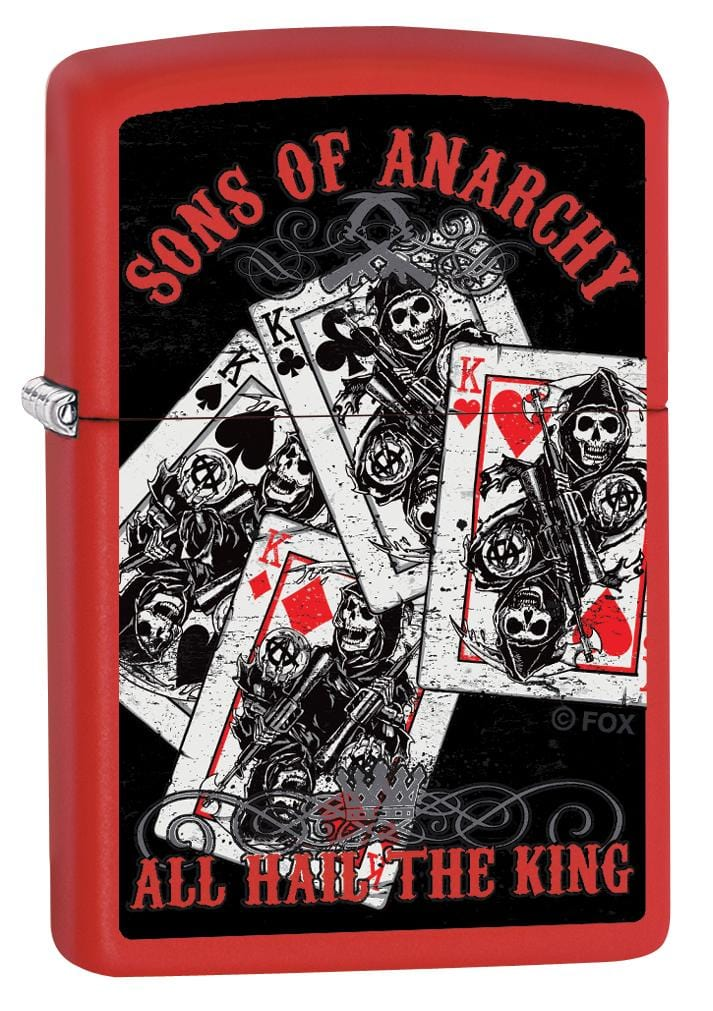 Zippo Lighter: Sons of Anarchy, All Hail the King - Red Matte 80145