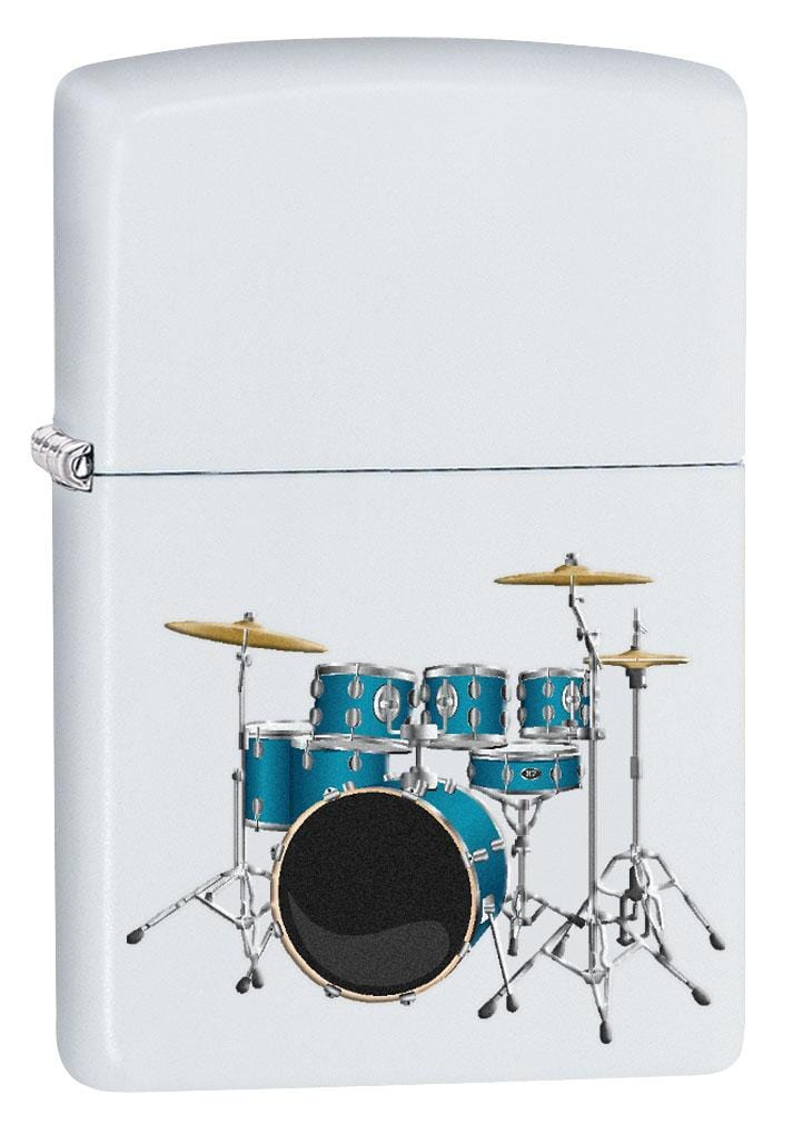Zippo Lighter: Drum Set - White Matte 80163