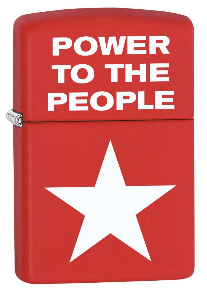Zippo Lighter: Power to the People - Red Matte 80184