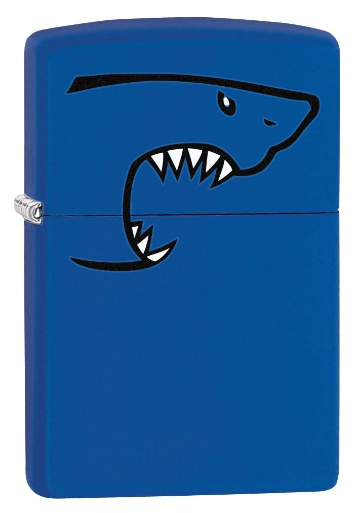 Zippo Lighter: Shark Bite - Royal Blue Matte 80187
