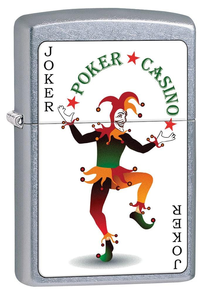 Zippo Lighter: Joker Card, Poker and Casino - Street Chrome 80220 (2029570556019)