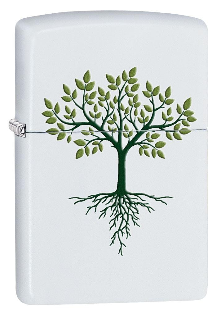 Zippo Lighter: Tree of Life - White Matte 80232