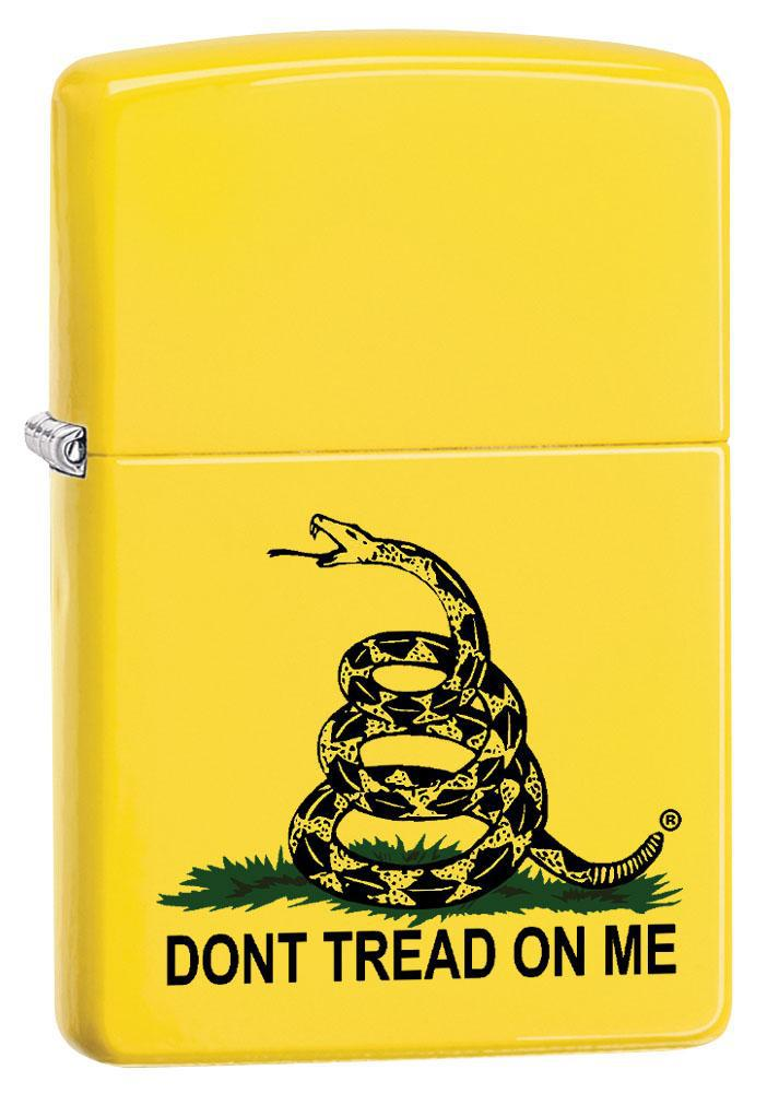 Zippo Lighter: Don't Tread on Me - Lemon Matte 80280