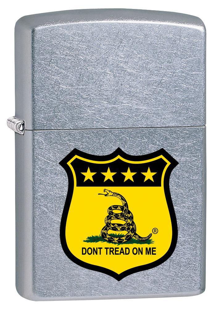 Zippo Lighter: Don't Tread on Me Badge - Street Chrome 80283