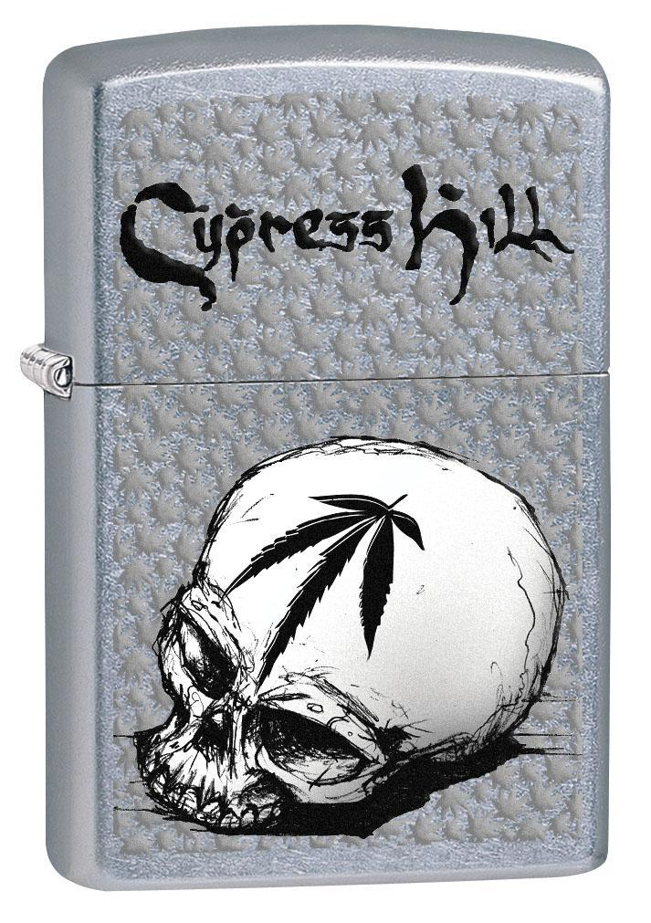 Zippo Lighter: Cypress Hill Skull and Weed Leaf - Street Chrome 80289 (4269194117235)