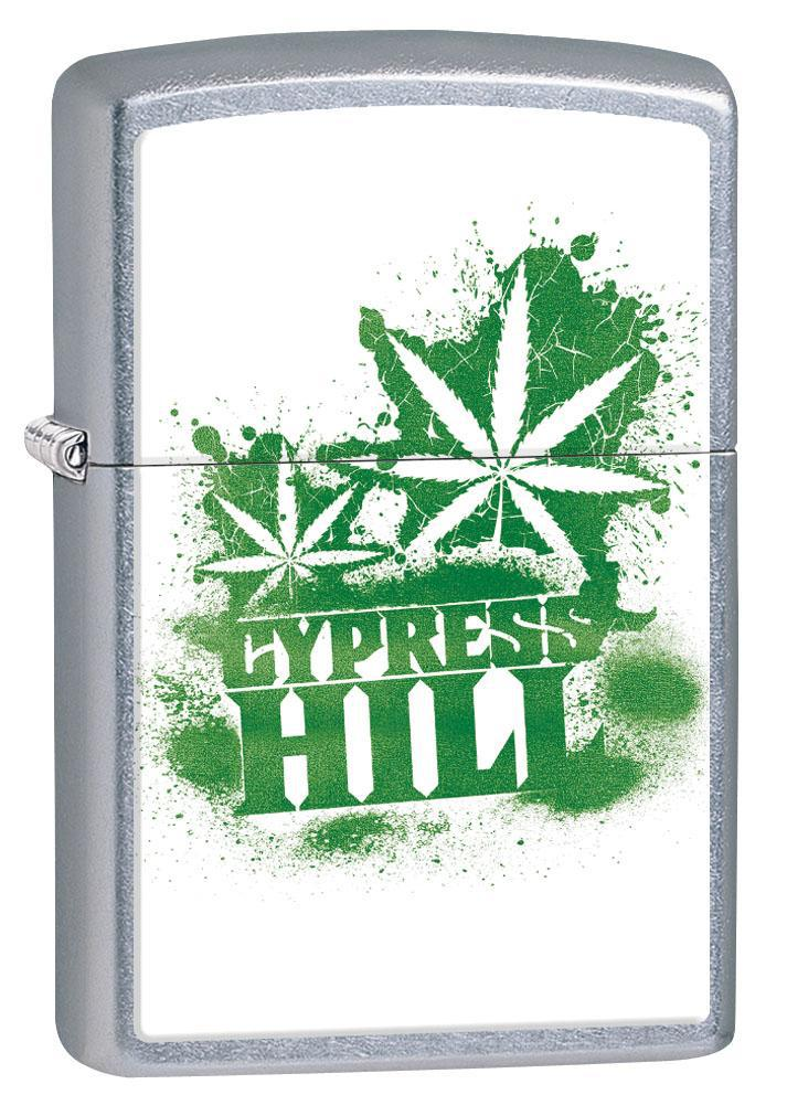 Zippo Lighter: Cypress Hill Weed Leaves - Street Chrome 80292