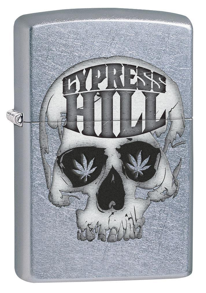 Zippo Lighter: Cypress Hill Skull and Weed Leaves - Street Chrome 80295