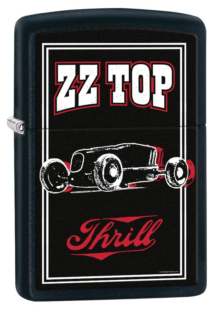Zippo Lighter: ZZ Top, Thrill - Black Matte 80307