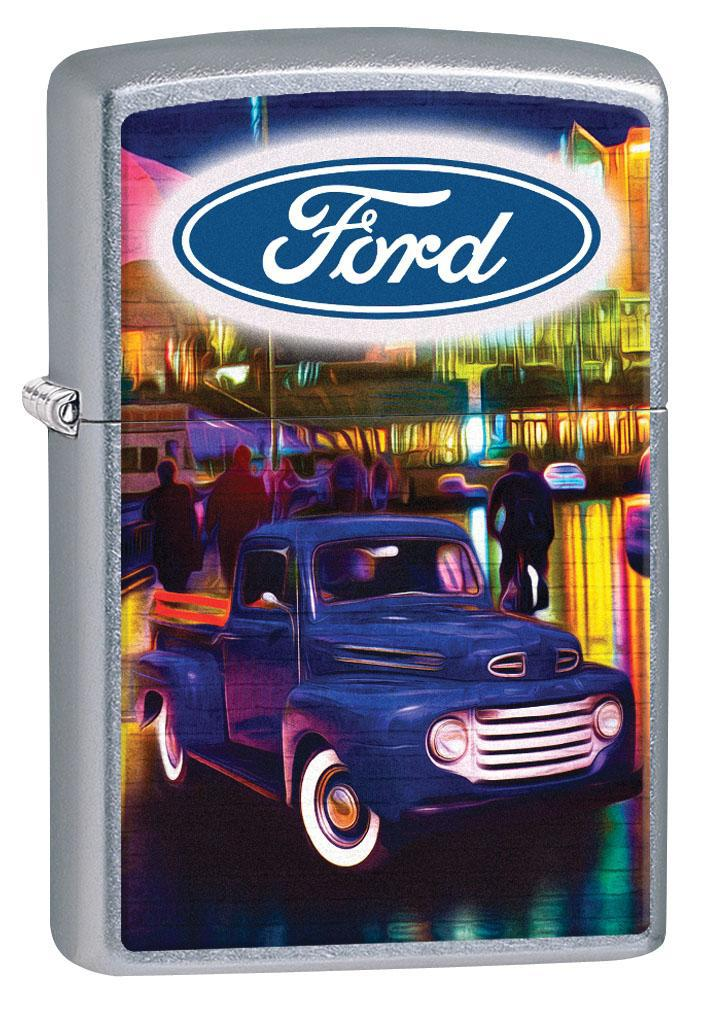 Zippo Lighter: Ford Vintage Blue Pickup Truck - Street Chrome 80310