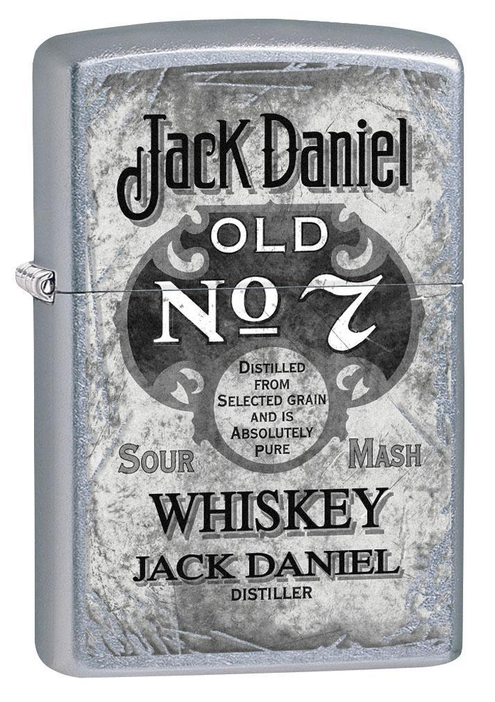 Zippo Lighter: Jack Daniels Vintage Label - Street Chrome 80322 (4269194510451)